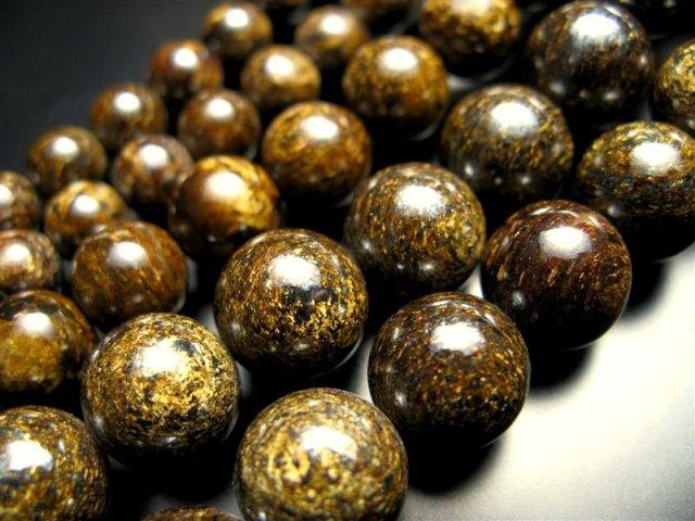 激安宣言 12mm珠 ブロンザイト(古銅輝石・古銅石) 一連 約40cm geki