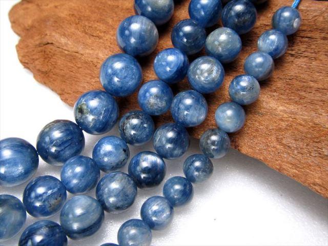 NEW 6.5mm珠 一連 AAAカイヤナイト 藍晶石 約40cm 極上 天然石 ビーズ パワーストーン ブラジル産