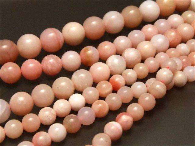 明るく淡い桜色AA+ ピンクオパール 10-10.5mm珠 一連 約40cm オーストラリア産