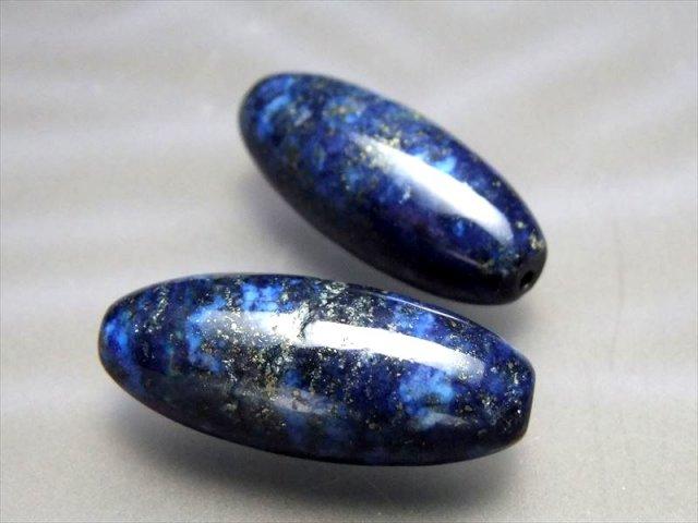 天珠型 ラピスラズリ 青金石 約30ミリ 12月の誕生石 アフガニスタン産