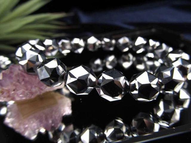 テラヘルツ鉱石 スターカット ブレスレット 12mm×16珠前後 極上スターカット 話題の 高純度 テラヘルツ 鉱石 2020年 検査機関にて検査済み 本物保証 返品保証 of