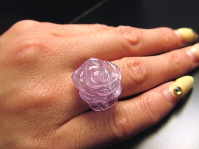 超大粒 薔薇 カービング リング M-Lサイズ 全3種 ローズ 20mm 指輪