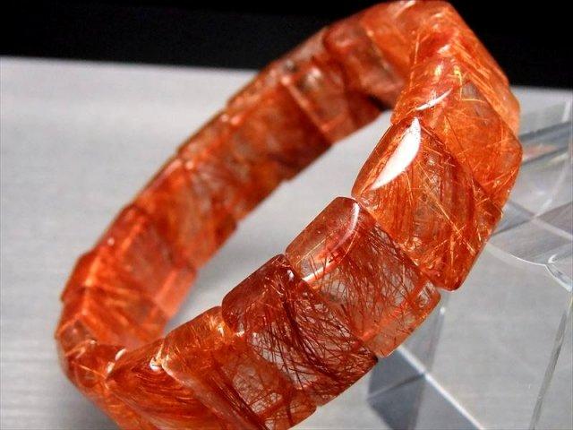 バングルタイプ 4Aクラス 爆発系&タイチン オレンジルチルブレス バングル 幅16.5ミリ 極上天然石 一点もの パワーストーン ブラジル産