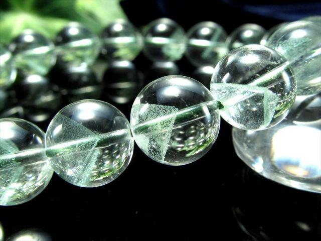 超透明 4A+ エメラルドグリーンファントム ブレスレット 7.5mm-8mm×25珠 美麗ファントム 極上天然石 一点もの パワーストーン マダガスカル産 sai