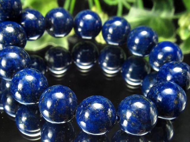 4A ラピスラズリ 青金石 ブレスレット 10-10.5ミリ×19珠 極上明るめカラー 幸運の象徴 アフガニスタン産 sai