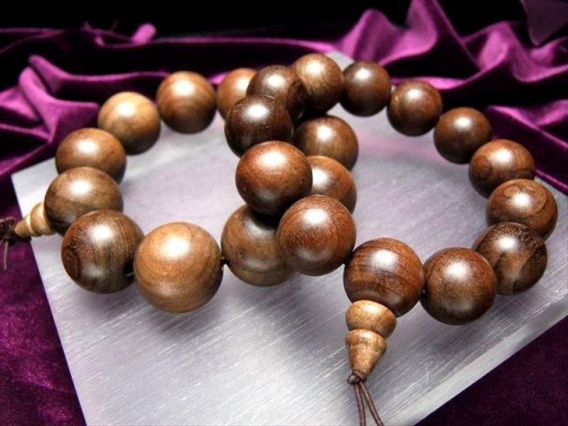 天然楠の木 ウッドビーズ ブレスレット 巨珠 17.5mm×13珠 中国産 楠 of