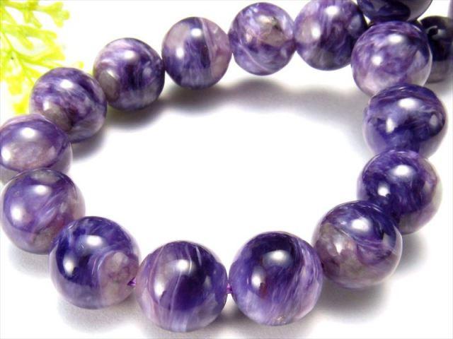 濃厚紫 4A+ チャロアイト(チャロ石)ブレスレット 9mm-9.5mm×21珠 妖艶マーブル 鮮やかパープル 人徳を高める 一点もの ロシア産 sai