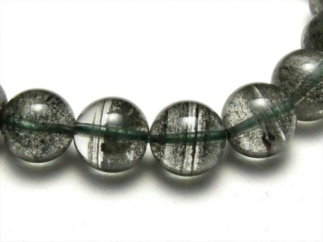 激レア 4A 千層グリーンガーデンクォーツ ブレスレット 9mm-9.5mm×21珠 濃厚グリーン 健康と長寿の石 庭園水晶 ブラジル産