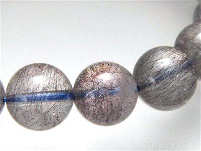 激レア・金属光沢の青系 4A ブルースーパーセブン ブレスレット 10.5mm-11mm×19珠 希少なメタリックブルーゲーサイト 1点もの ブラジル産