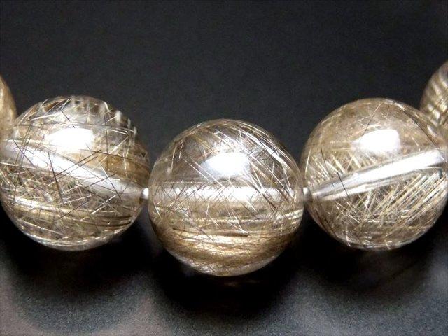 透明 輝く銀針 4A+【シルバールチル ブレスレット】12mm×17珠【針バランス良タイプ】【ブラジル産】sai