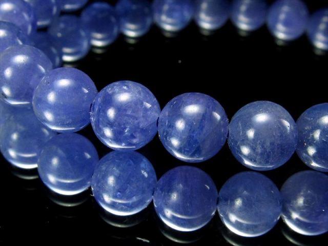きらきらボタンカット 5A タンザナイト(ボタンカット)ブレスレット 幅6mm×50珠 極上天然石 人生を良い方向へと導く石 タンザニア産