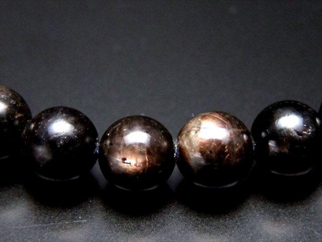 AAA+ ゴールドシラー サファイア ブレスレット 7mm-7.5mm×26珠 黄金色のシラーを放つサファイア 一点もの ミャンマー産
