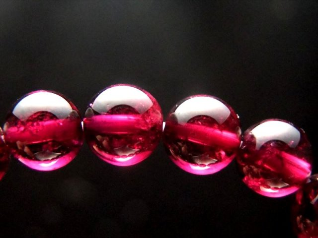 超透明 赤紫 4A ロードライト ガーネット ブレスレット 7mm-7.5mm×24珠 努力が実る石 1点もの インド産