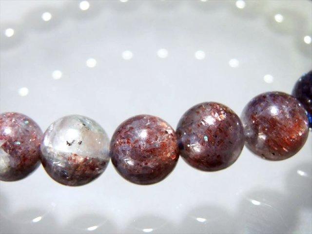 当店初入荷 珍しいシリカタイプ 4A アイオライトサンストーンシリカ ブレスレット 8.5mm-9mm×23珠 3種の特性を持つ奇跡のストーン 予言の石 インド産