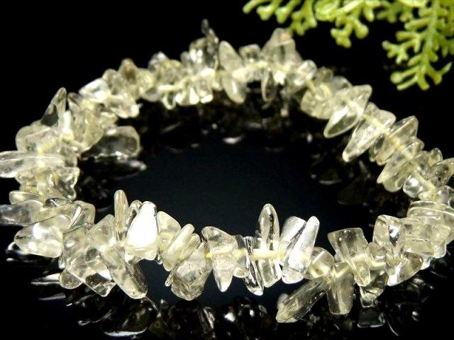 超透明 気泡くっきり 4A リビアングラスさざれ ブレスレット 粒サイズ幅約6mm-10mm リビアの天然ガラス 隕石由来のインパクトガラス エジプトサハラ砂漠産