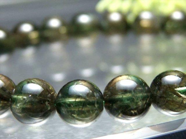 超透明 5A ベスビアナイト ブレスレット 8mm-8.5mm×23珠 極上光沢&濃い緑 活気に満ち溢れた石 天然石 パワーストーン パキスタン産