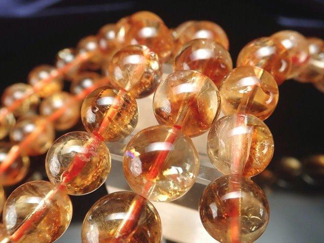 3A シトリンファントム(幻影黄水晶)ブレスレット 9.5mm-10mm×21珠前後 11月の誕生石 幸運の石 ブラジル産
