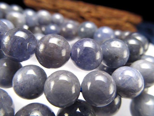 タンザナイト ブレスレット 約6.5mm-7mm×27珠前後 落ち着きあるシックな色合い 12月の誕生石 運気改善・導きの石 タンザニア産