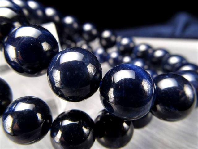 AA+ ディープブルーソーダライトブレスレット 8.5mm-9mm×22珠前後 深みのある藍色 夢や目標をサポートする石 ブラジル産