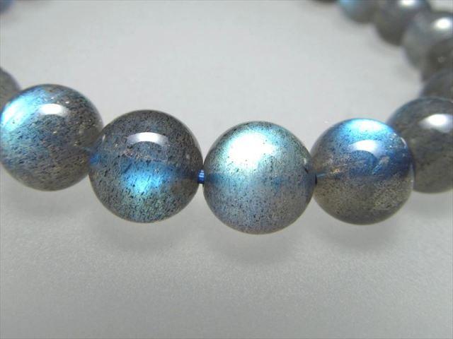 美麗ブルーシラー 4A ブルーシラー ラブラドライト ブレスレット 8mm×23珠 信念を貫く力 極上天然石 一点もの マダガスカル産