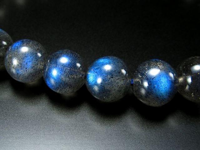 美麗ブルーシラー 3A+ ブルーシラー ラブラドライト ブレスレット 8mm-8.5mm×23珠 信念を貫く力 極上天然石 一点もの マダガスカル産