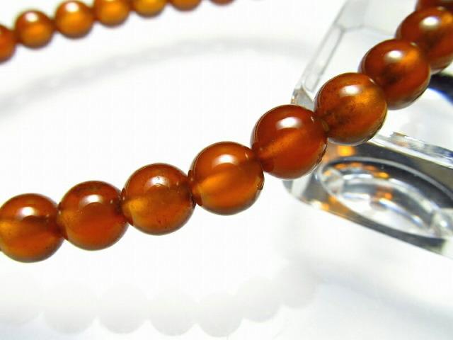 透明感あり オレンジガーネット ブレスレット 6mm×31珠 ヘソナイトガーネット つやつや濃厚オレンジ色 1月の誕生石 一点物 スリランカ産