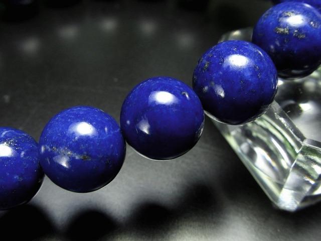 4A ラピスラズリ ブレスレット(青金石) 9.5mm-10mm×20珠 9月の誕生石 つやつや明るい紺色 アフガン産