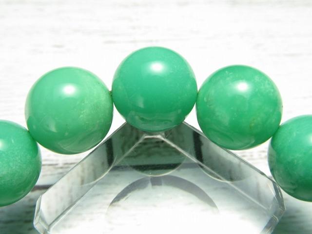2A クリソプレーズ ブレスレット(オーストラリアンジェイド) 11.5mm-12mm×17珠 隠れた才能を引き出す石 瑞々しいアップルグリーン 1点もの オーストラリア産