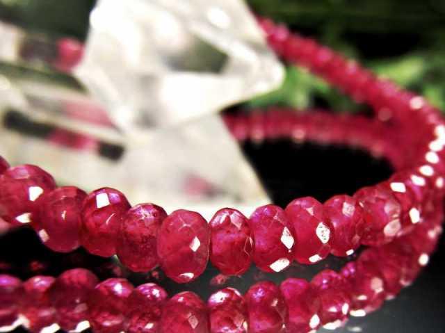 シックな色合い ルビー ブレスレット 7mm-7.5mm×26珠 宝石の女王 勝利と情熱を象徴する石 7月の誕生石 一点もの ミャンマー産 sai
