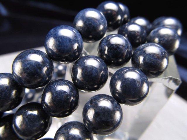 2A+ サファイア ブレスレット 8mm-8.5mm×23珠前後 濃色ブルー 世界四大宝石 ミャンマー産