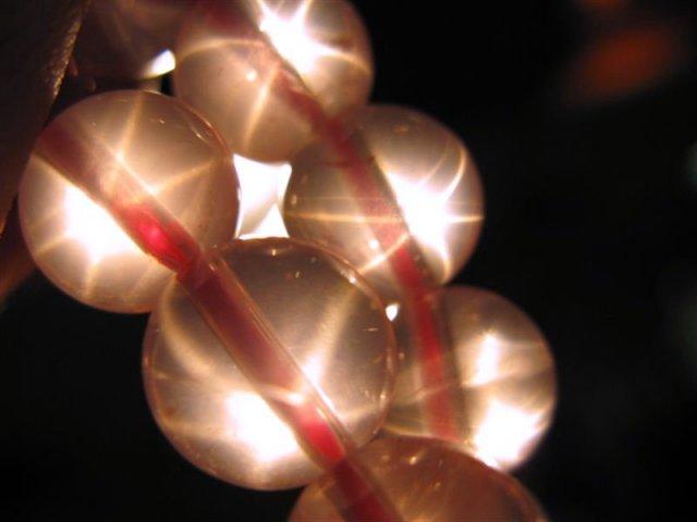 超人気 星ローズ スターローズクォーツブレス (紅石英) 7.5mm-8mm×24珠前後 極上天然石 マダガスカル産