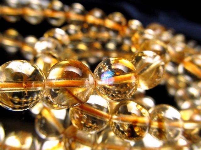3A+ シトリン ファントム(幻影黄水晶)ブレスレット 9mm-9.5mm×21珠前後 くっきりファントム 11月の誕生石 幸運の石 ブラジル産
