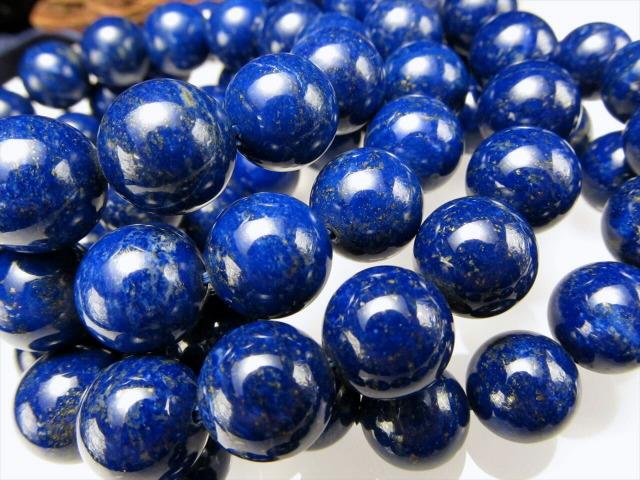 4A ラピスラズリ(青金石)ブレスレット 6.5mm-7mm×26珠前後 青金石と黄鉄鉱の絶妙バランス 幸運の象徴 9月の誕生石 アフガニスタン産