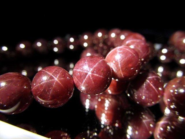 AA スターガーネットブレスレット 9.5mm×20珠前後 1月の誕生石 努力が実る石 インド産