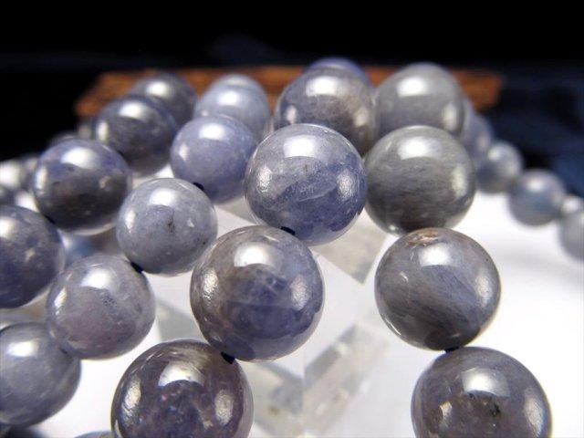 タンザナイト ブレスレット 約9mm-9.5mm×21珠前後 落ち着きあるシックな色合い 12月の誕生石 運気改善・導きの石 タンザニア産