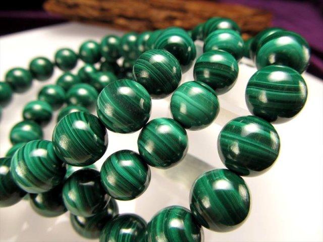 マラカイト ブレスレット 8.5mm×22珠前後 限定入荷 心身の癒しに優れた石 極上グリーン 孔雀石 コンゴ産