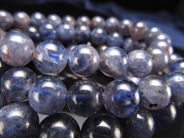 2A アイオライト ブレスレット 約7mm×25珠前後 宇宙のような神秘的ブルー 夢や目標へ導く石 きんせい石 スリランカ産