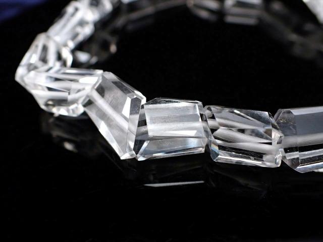 宝石質ペタライト タンブルカット ブレスレット 約6.5mm-8mm 天使の石 高次の意識の目覚めを促す 極上1点物 ブラジル産 鑑別書付属