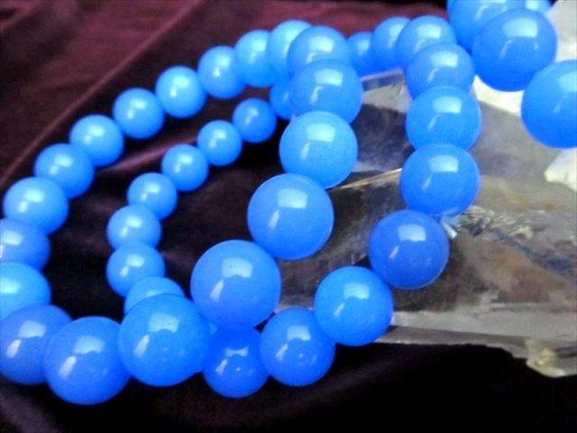 ブルールミナスストーン ブレスレット 約8mm-8.5mm×23珠前後 希少ストーン入荷 明るさと希望を与える 暗闇で神秘的に発光 夜光石 蓄光石 of-F2