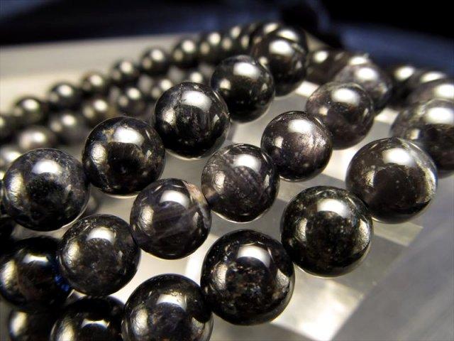 AA+ ブラックアイオライト〈きんせい石〉ブレスレット 7mm-7.5mm×25珠前後 クールなブラックカラー 夢や目標へ導く石 スリランカ産