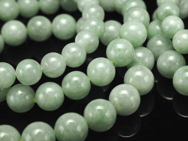 3A+ ライトグリーンジェイド(翡翠)ブレスレット 9mm-9.5mm×20珠前後 艶々光沢 美しいライトグリーン あらゆる成功と繁栄 を象徴る石 ミャンマー産