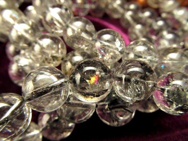 AA+ エレスチャルクォーツ(骸骨水晶)ブレスレット 約10.5mm-11mm×18珠前後 透明感抜群 天使のギフト 水晶の最終形態 ヒマラヤ産