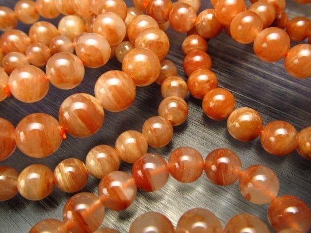 大特価 レッドアゲート(赤瑪瑙)ブレスレット 11mm-11.5mm×18珠前後 赤×白乳色の柔らかカラー 激安 ブラジル産 of
