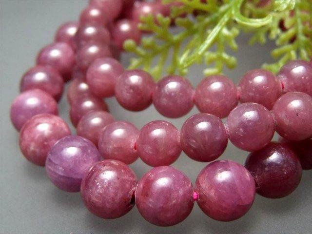 ルビー(紅玉)ブレスレット 8mm-8.5mm×23珠前後 シックな色合い 宝石の女王 7月の誕生石 勝利と情熱の象徴 ミャンマー産