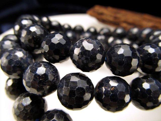3A サファイア(青玉)ミラーボールカットブレスレット 6mm-6.5mm×28珠前後 勝利を呼ぶ石 ミャンマー産