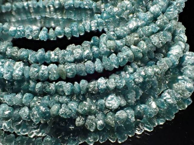 天然ブルーダイアモンド 結晶原石ワイヤーブレスレット 約2mm-3mm SILVER925 永遠の絆の象徴 4月の誕生石