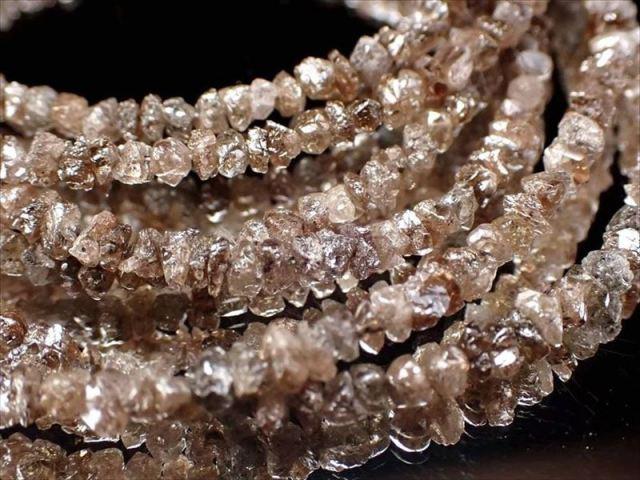 天然ブラウンダイアモンド 結晶原石ワイヤーブレスレット 約2mm-3mm SILVER925 永遠の絆の象徴 4月の誕生石