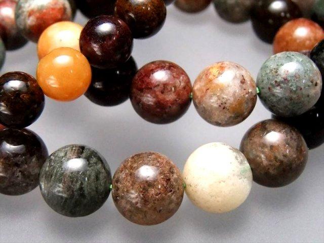 激安 MIXガーデンクォーツ(庭園水晶)ブレスレット 約11.5mm-12mm×17珠前後 色とりどりMIXカラー ブラジル産