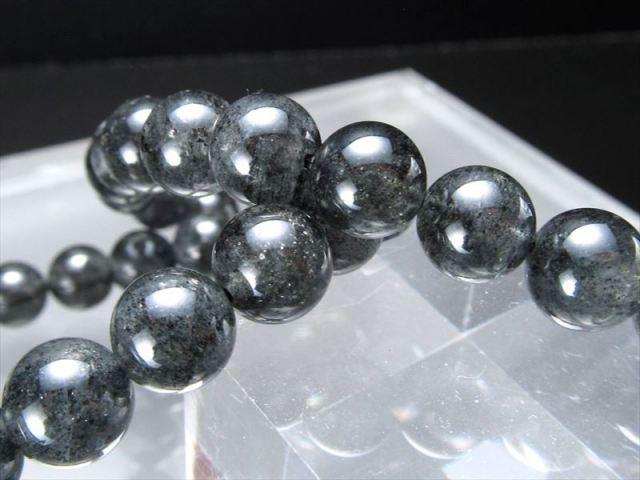 濃いタイプ フィリフォーム(毛状)・クリスタルインクォーツ ブレスレット 10.5mm-11mm×19珠前後 たっぷりインクルージョン 8種以上の鉱物を内包した水晶 ブラジル産