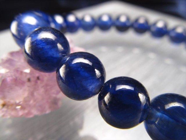 4A サファイア(青玉)ブレスレット 約8mm-9mm×23珠 美しいサファイアブルー 透明感抜群 世界4大宝石の1つ 1点物 ミャンマー産